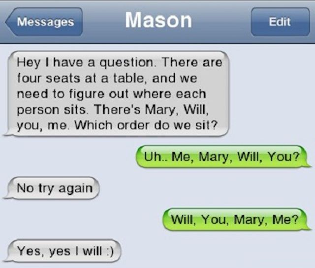 how to propose a guy on text
