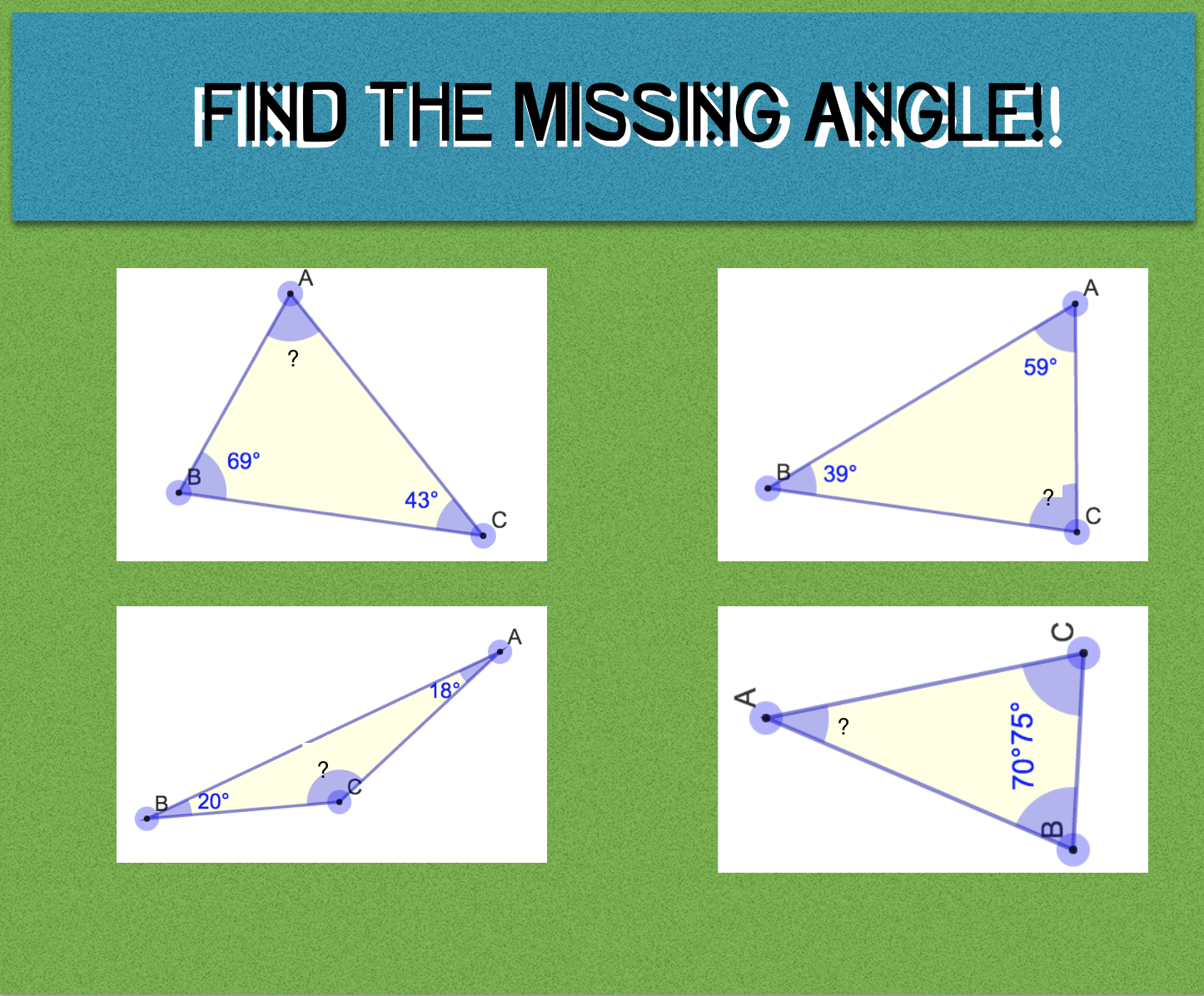 Finding The Angle Worksheet With Images