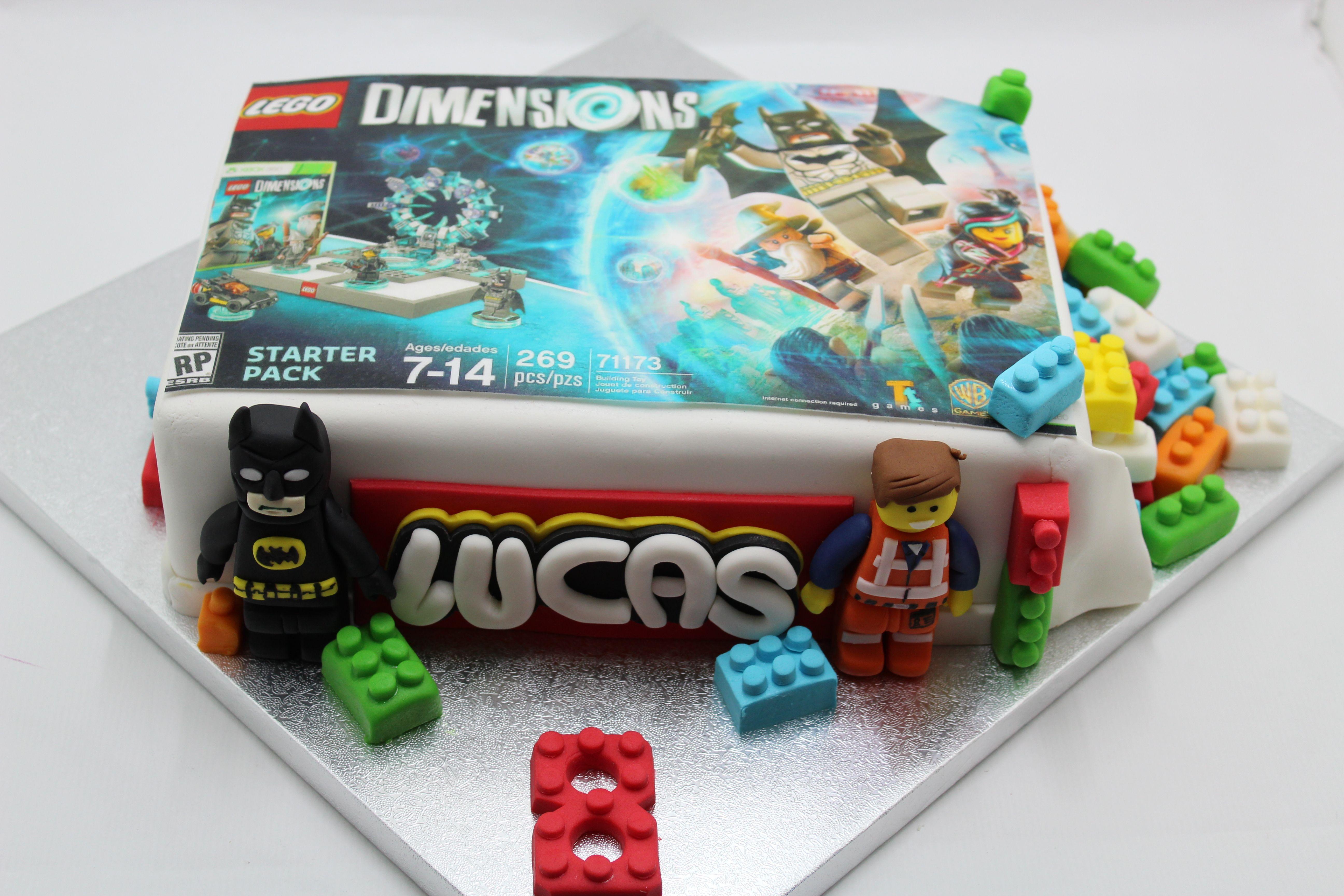 Tarta Lego Dimensions With Images Lego Birthday Pokemon