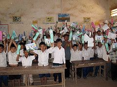 """Even basic school supplies like pencils, notebooks and erasers are hard to come by - and nearly impossible to afford - for many families living in poverty around the world.    Baptist Global Response is sponsoring the """"Kits for Kids"""" campaign to help equip a child with the tools needed to get an education."""