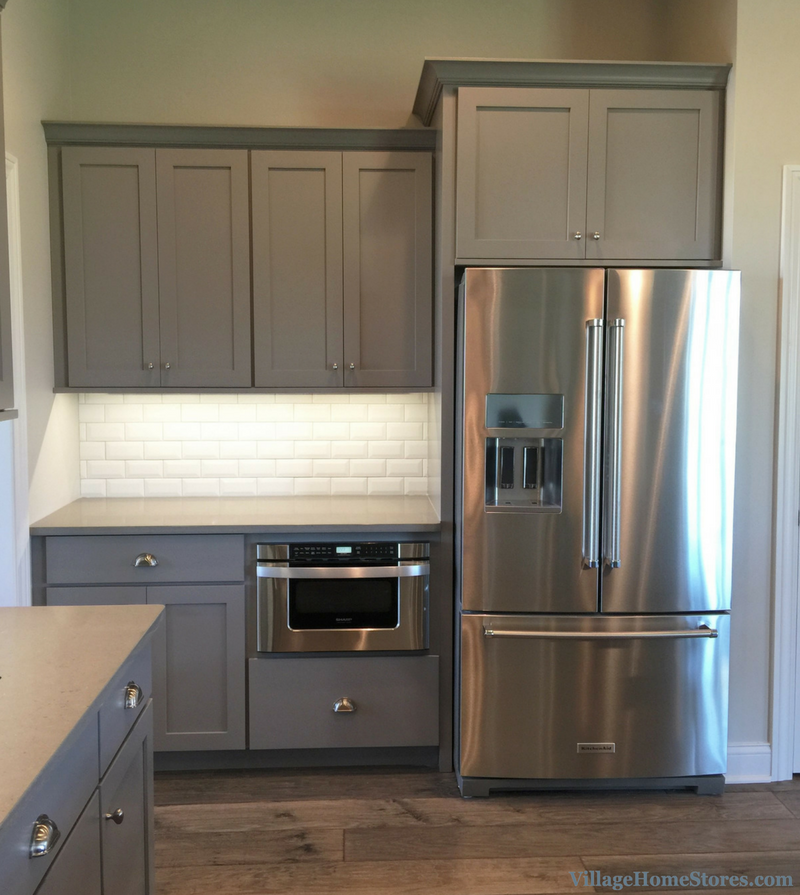 Kitchen Cabinets For Microwave: KitchenAid Refrigerator And Sharp Microwave Drawer In A