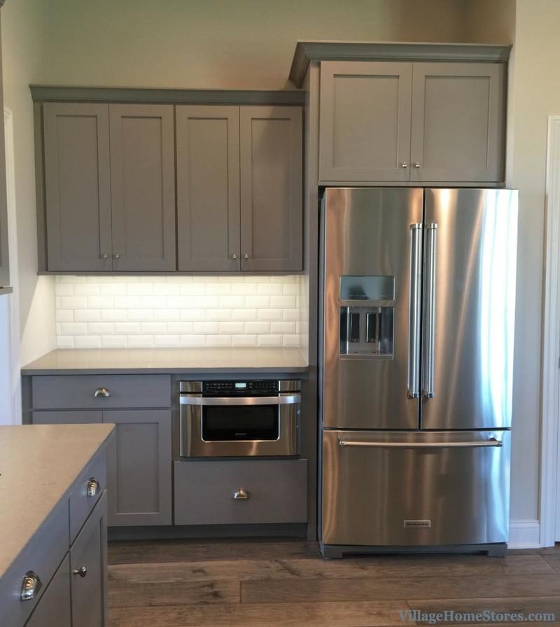 Kitchen Cabinets Refrigerator: KitchenAid Refrigerator And Sharp Microwave Drawer In A