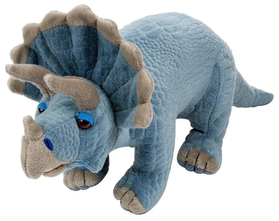 Wild Republic Realistic Triceratops Dinosaur Soft Plush Toy  Nothing But Dinosaurs  Dinosaur