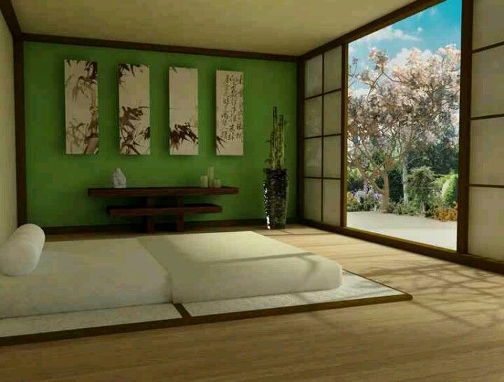Beautiful Asian Bedroom Design With Artistic Wall Art Rex Is Set On An Zen Theme For Our But He Wants To Do Green And Black