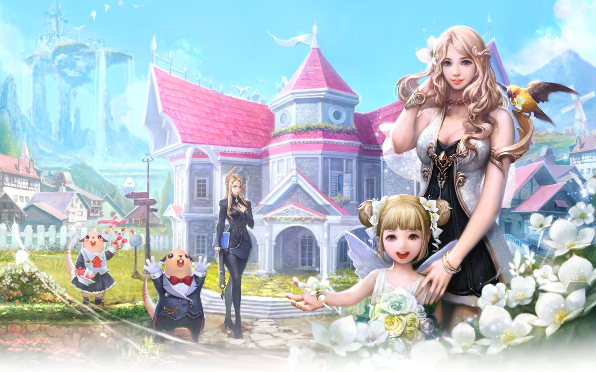 In summer hd wallpaper download cartoon wallpaper html code - Click Here To Download In Hd Format Aion Fantasy Game Http