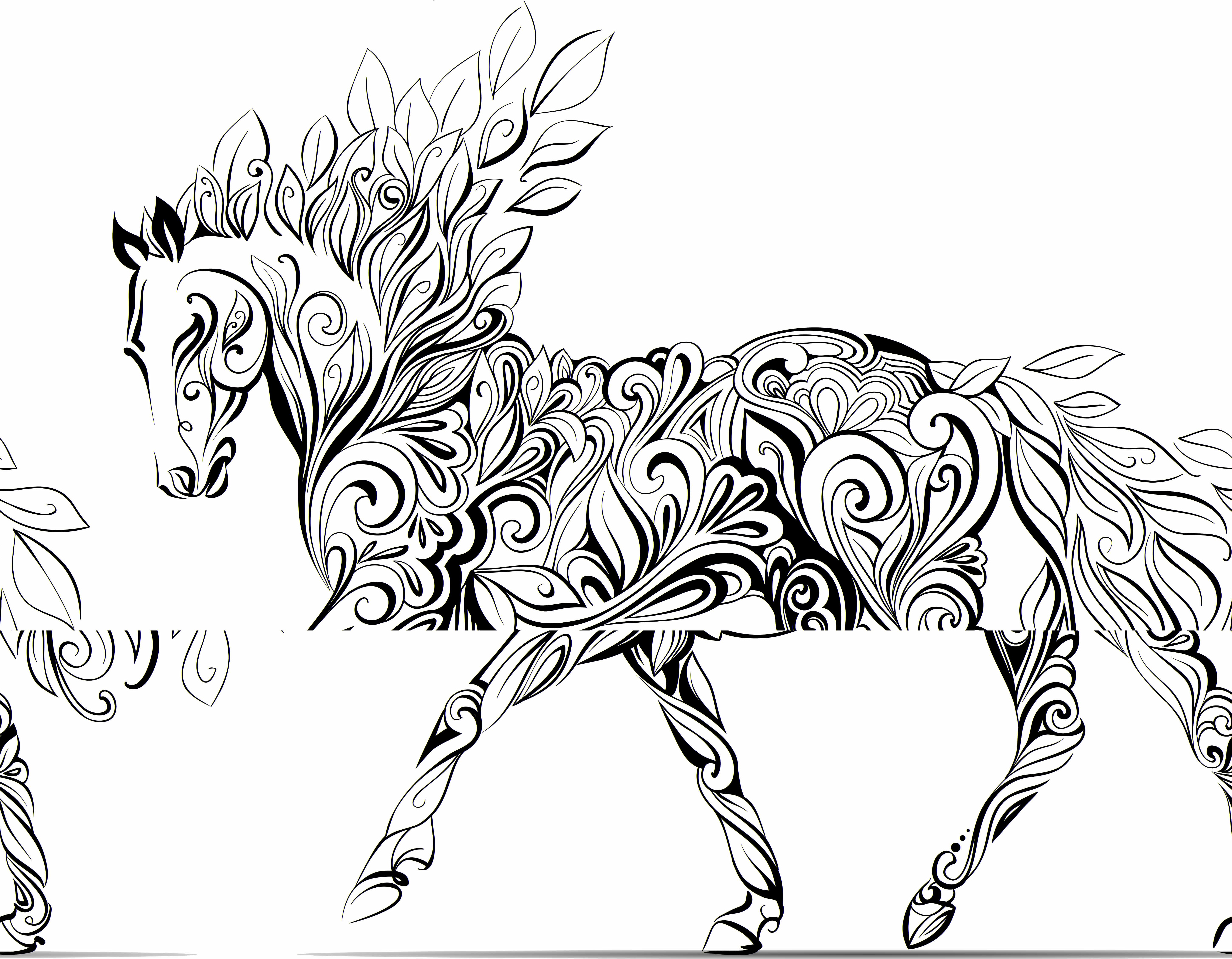pony coloring pages for grownups - photo#17