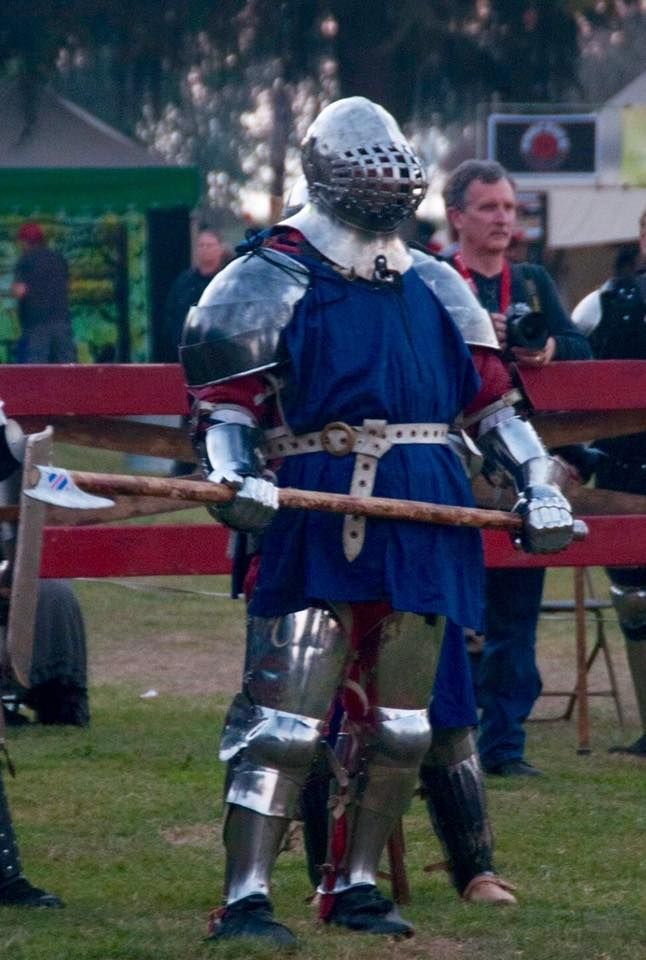 Great basinet  Full contact medieval fighting with steel weapons