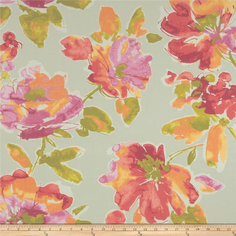 P Kaufmann Malindi Floral Slub Blossom From Fabricdotcom