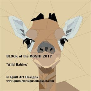 Quilt Art Designs: May Block of the Month - Wild Babies