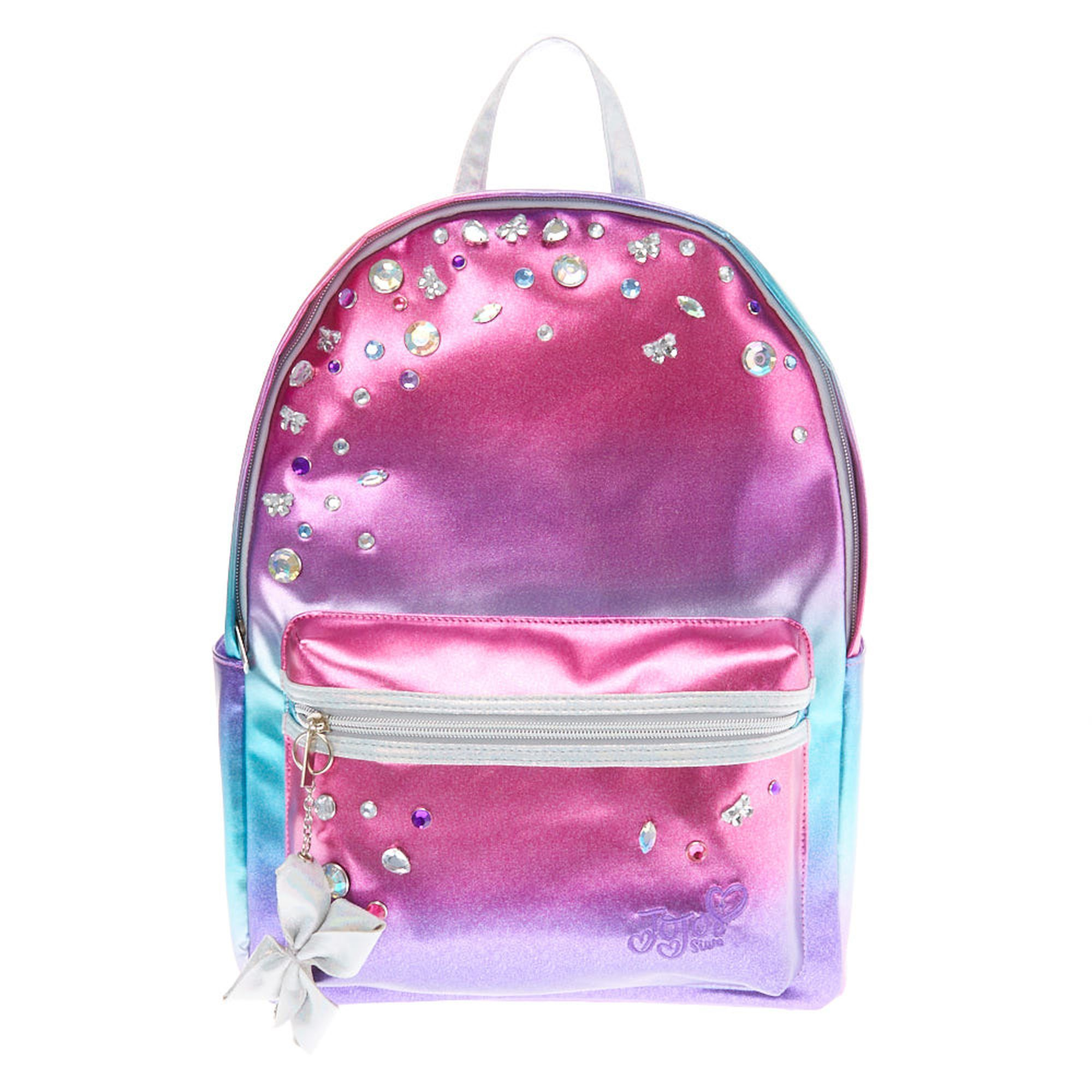 e186f14db JoJo Siwa™ Metallic Ombre Stone Backpack | Claire's | Kid's Bags in ...
