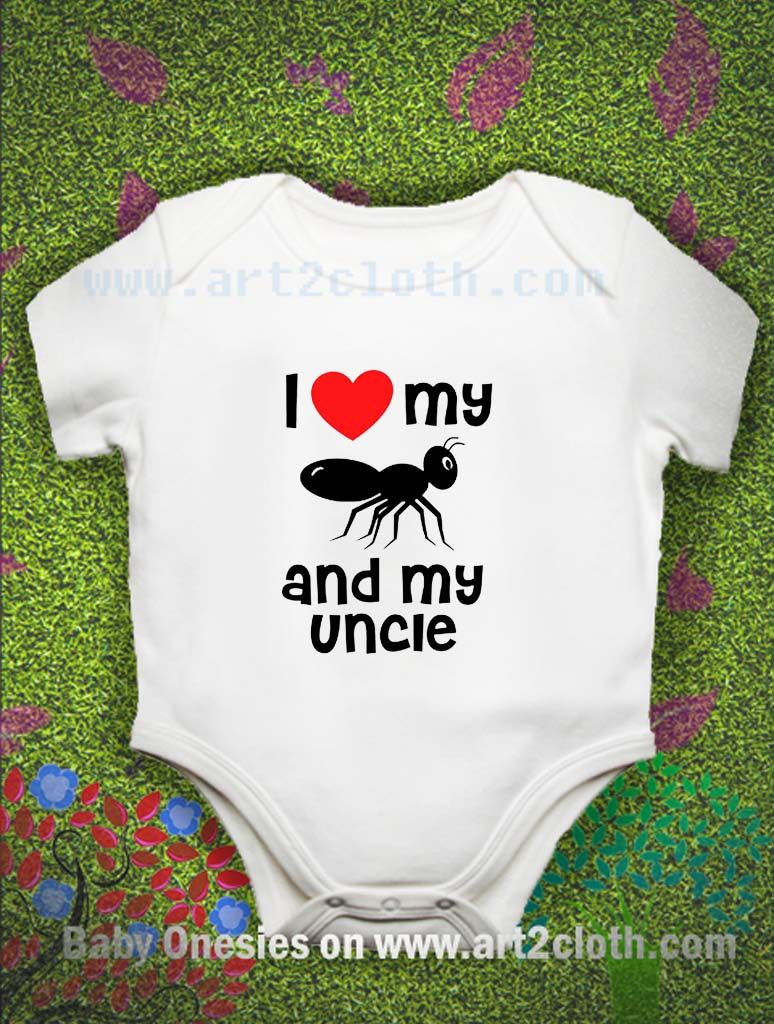 Funny Quote I Love My Aunt And My Uncle Baby Onesie Baby Onesie