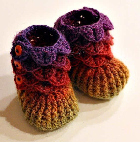 10 DIY Baby Crafts | Rainbow crochet, Crocheted baby booties and ...