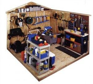 garden shed organization idea