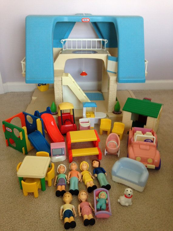 Vintage Little Tikes Dollhouse Furniture By TrendyfedsTrinkets, $199.99/  Thereu0027s SO Many More Accessories That Goes With This! Turtle Sandbox, Blue  Pool, ...