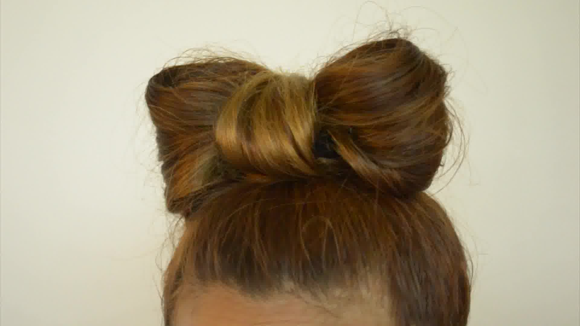 How To Make A Bow Out Of Your Hair Long Hair Kids Hairstyles Bow Hairstyle Tutorial Bow Hairstyle