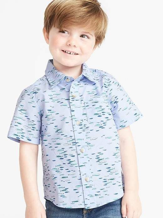d033ec9257a Old Navy Printed Poplin Shirt for Toddler Boys in 2019