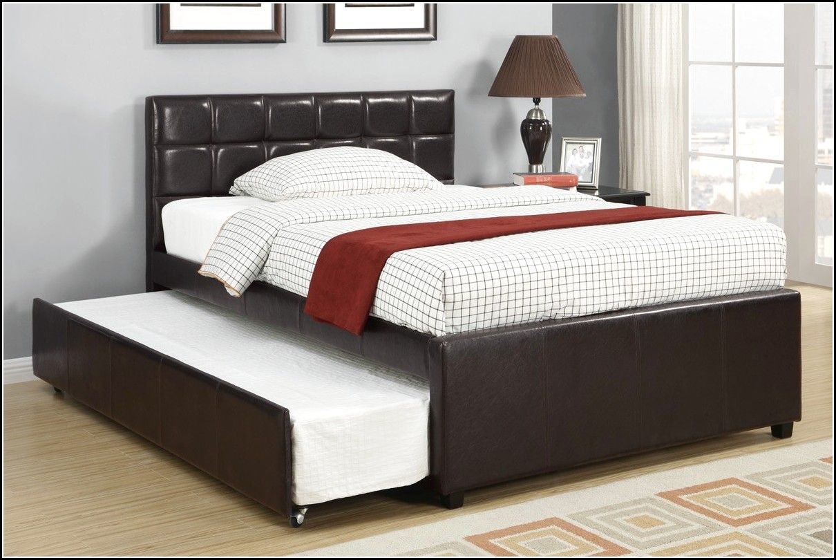 Queen Size Trundle Bed Design Ideas And There Are Nightstand | Queen ...