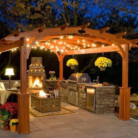 Outdoor Weatherproof Party String Lights with 25 Sockets Light Bulbs Included – Backyard patio designs