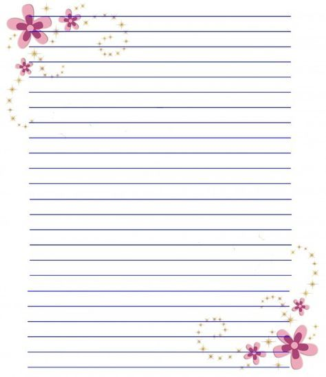 pinned from site directly~~    Flower Stationery Paper Planer - lined stationery paper