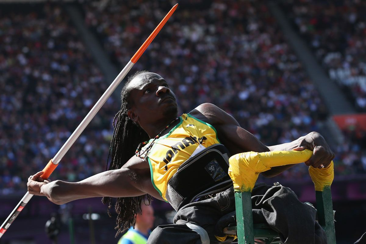 Alphanso Cunningham of Jamaica competes in the Men's