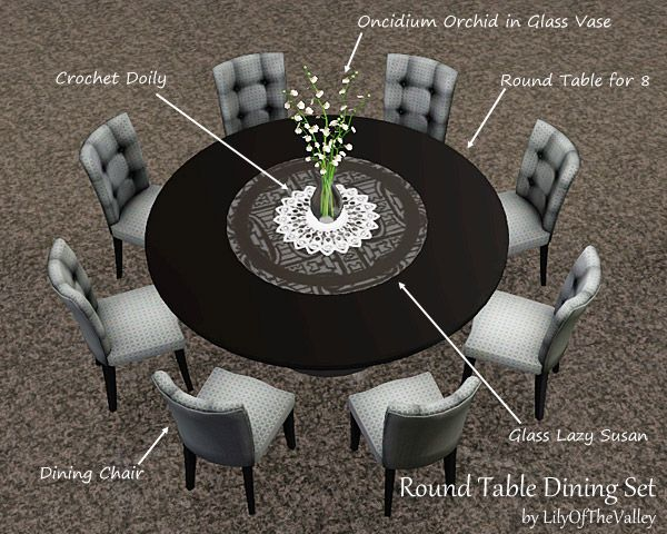 LilyOfTheValley's Round Table Dining Set...NICE 4 REAL LIFE #roundtabledecor