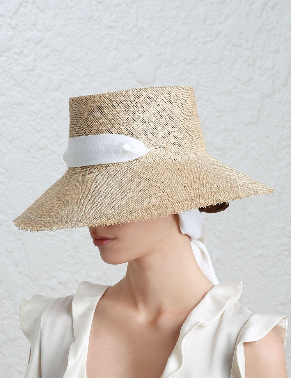 Frayed Edge Straw Brim Hat From Our Resort Rtw 17 Collection In Natural By The Hatmaker In Collaboration With Zimmermann Straw Hat Hats Brim Hat Crown Hat