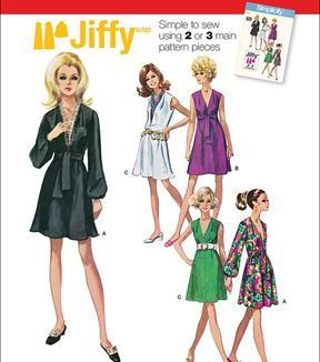 Simplicity Patterns Us1059R5-Simplicity Misses' Jiffy Dress And Sash Or Scarf-14-16-18-20-22