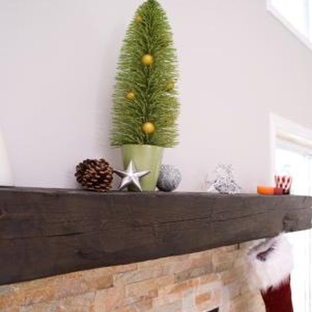 Install a rustic mantel to set off your fireplace.