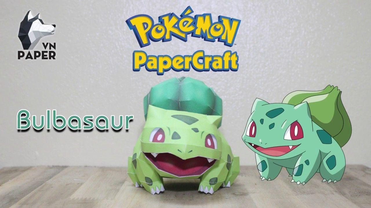 Pokemon Papercraft Tutorial Bulbasaur Paper VN