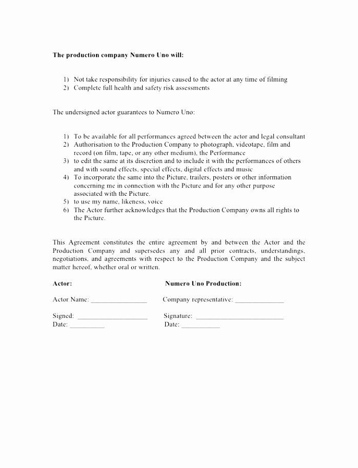 Tv Series Producer Agreement Template Contract Template