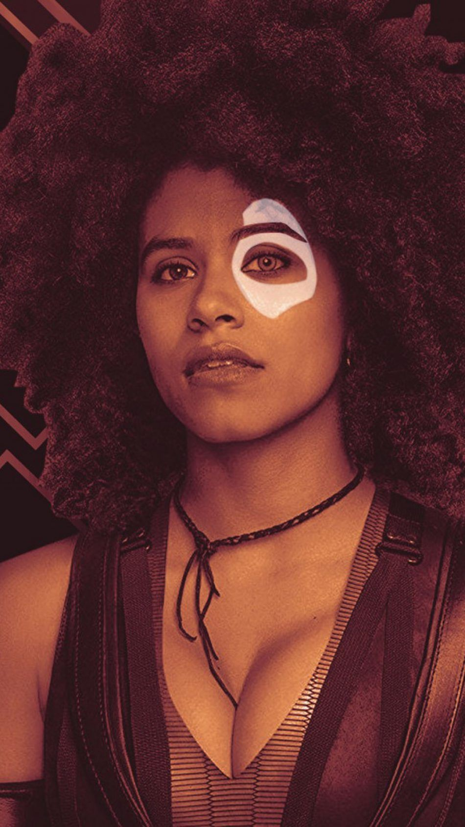 Find Out How Zazie Beetz Might Look As Domino In Deadpool 2 With This Cool New Fan Art Deadpool Zazie Beetz Marvel Girls