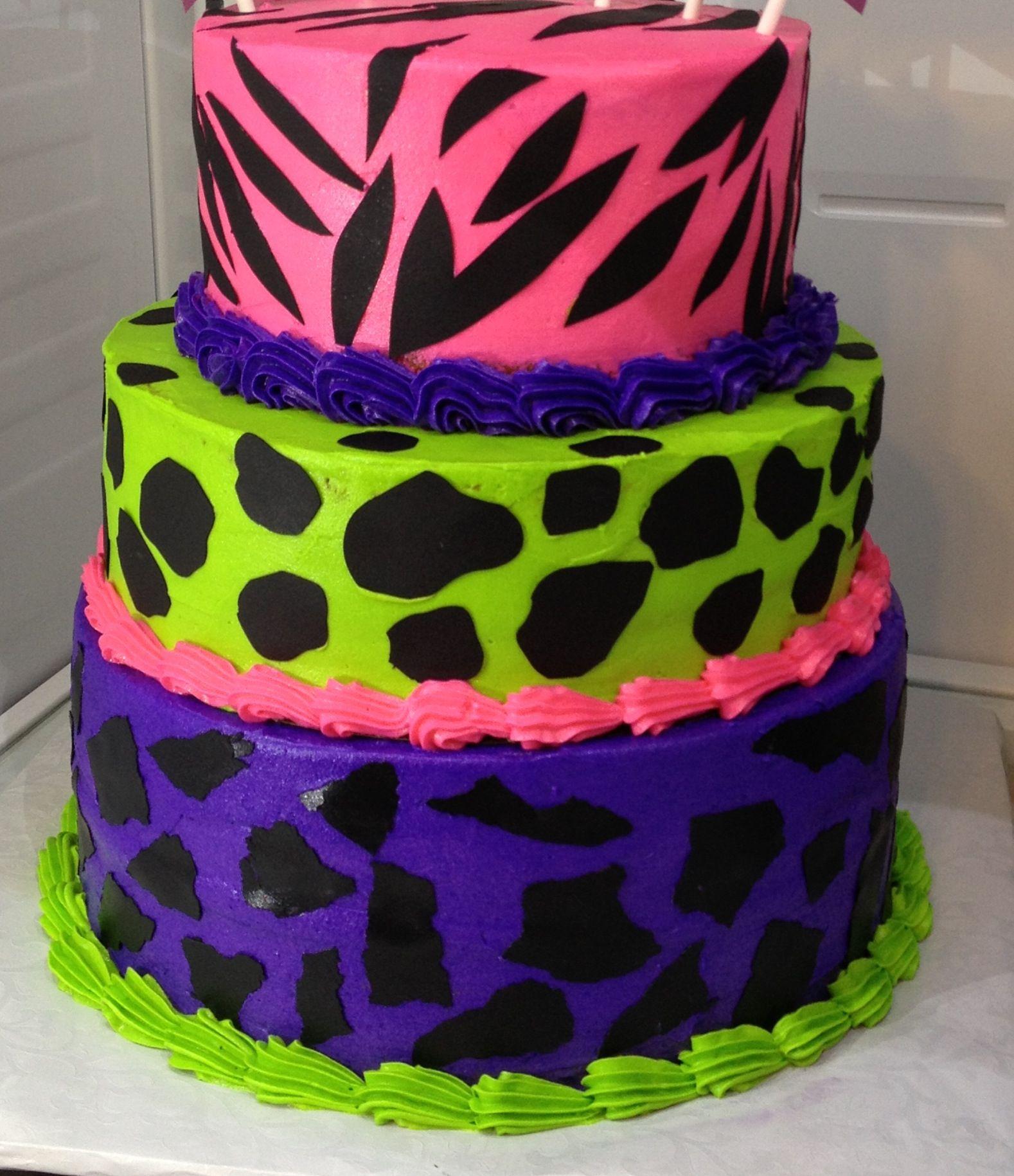 Multi Print 3 Tier Cake