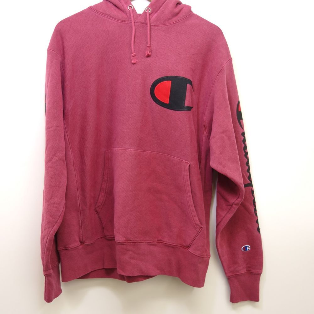 8107cde0 New Pacsun Champion Mens Faded Red Embroidered Logo Hoodie Sweatshirt Sz  Large #Champion #Hoodie
