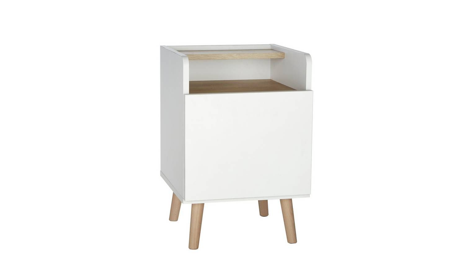 Buy Argos Home Skandi 1 Drawer Bedside Table White Two Tone Bedside Tables Argos In 2020 White Bedside Table Argos Home Furniture Packages