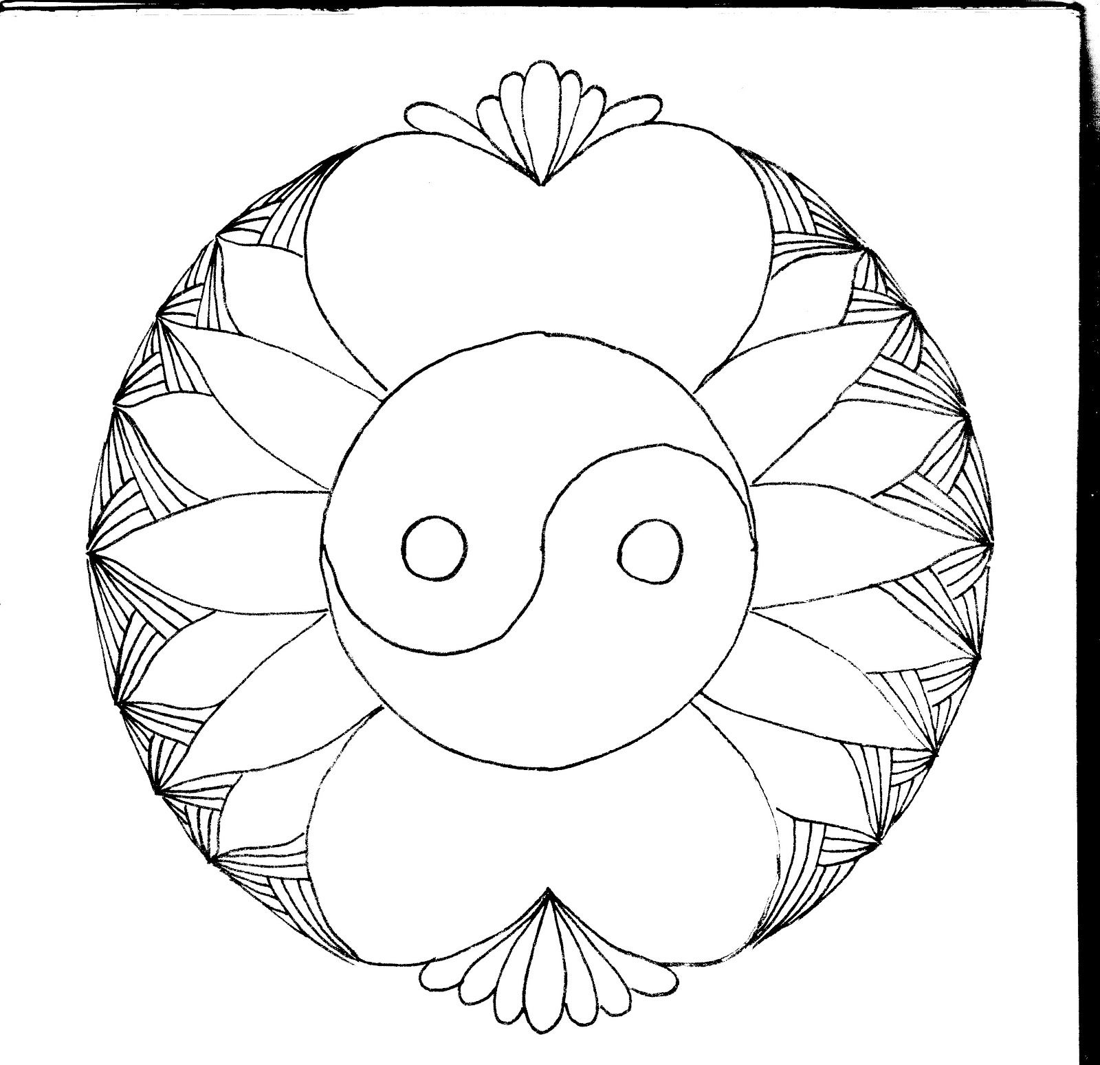 Ying Yang Coloring Pages Yin Yang Coloring Pages Mosaic Patterns