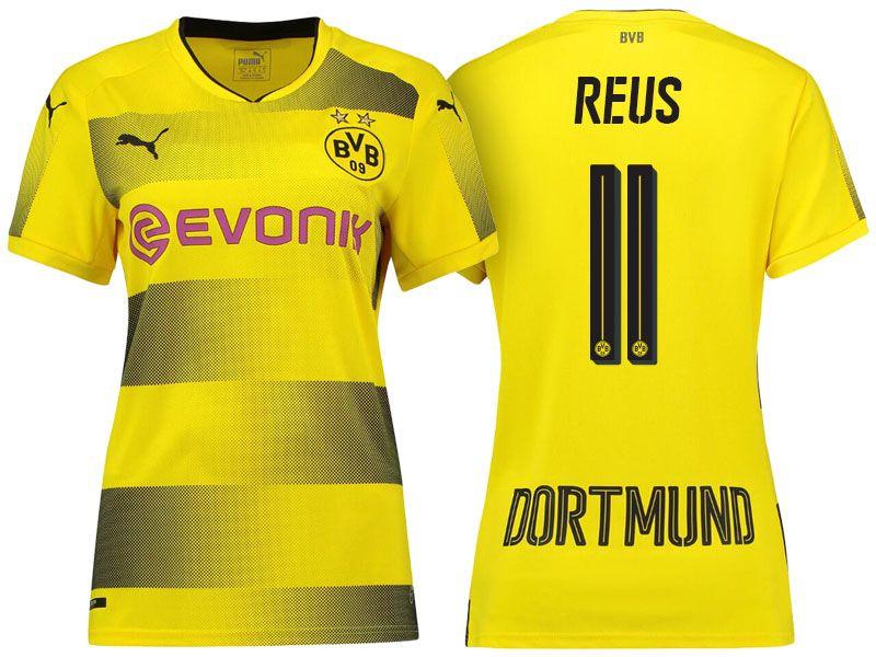 best website b98b8 25239 Women Borussia Dortmund 2017-18 Home Shirt marco reus ...