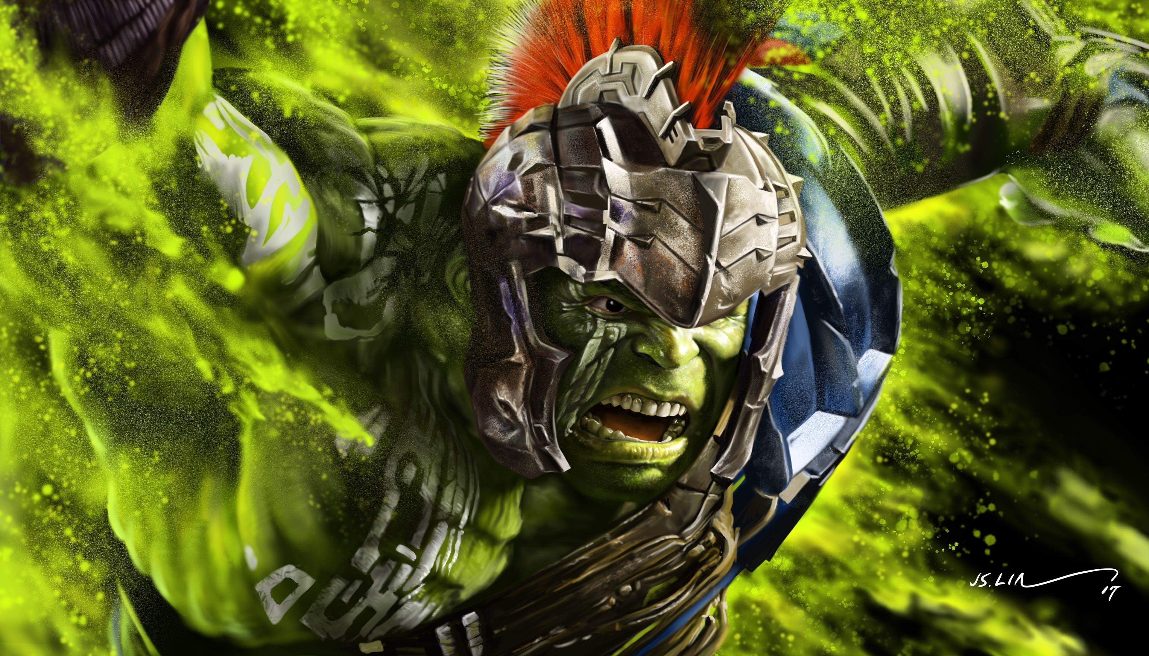 Thor Ragnarok 4k Artwork Hulk 4k Wallpaper Hdwallpaper Desktop Loki Wallpaper Hulk Incredible Hulk