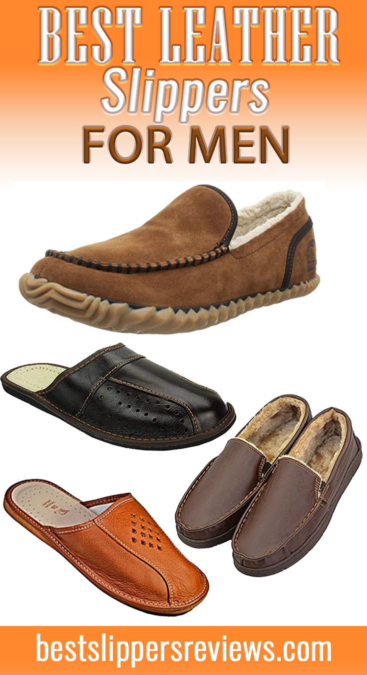 Leather slippers for men, Novelty gifts