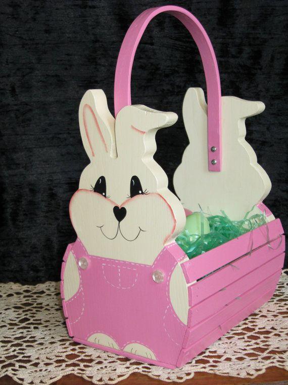 Reserved For Laura Mccready Handmade Wooden Easter Basket