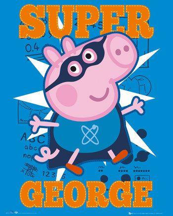 Super George Mini Poster Peppa Pig Peppa Pig George
