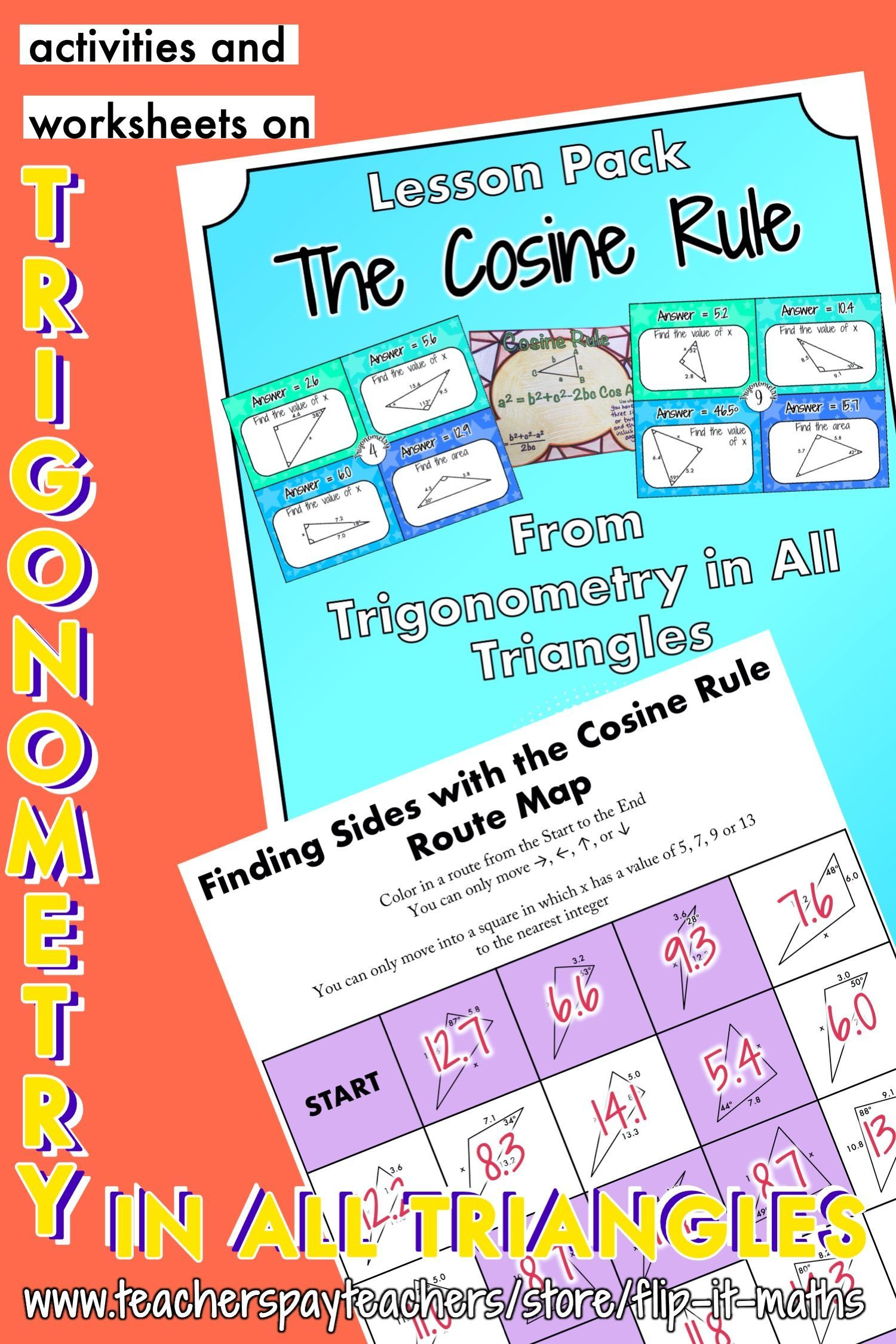 The Cosine Rule In 2020 Trigonometry Math Resources How To Introduce Yourself