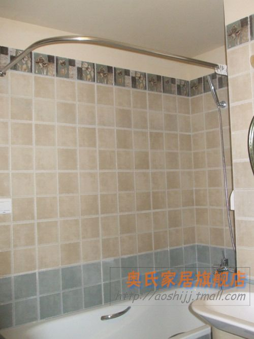 Quality Stainless Steel 304 Stainless Steel Curved Shower Curtain