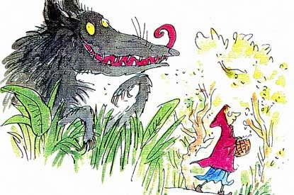 Little Red Riding Hood and the Wolf | Little red riding hood, Quentin blake  illustrations, Red riding hood