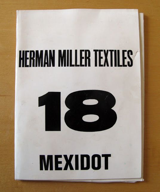 "Herman Miller Textiles ""Mexidot"" Swatch Sample Sheets"