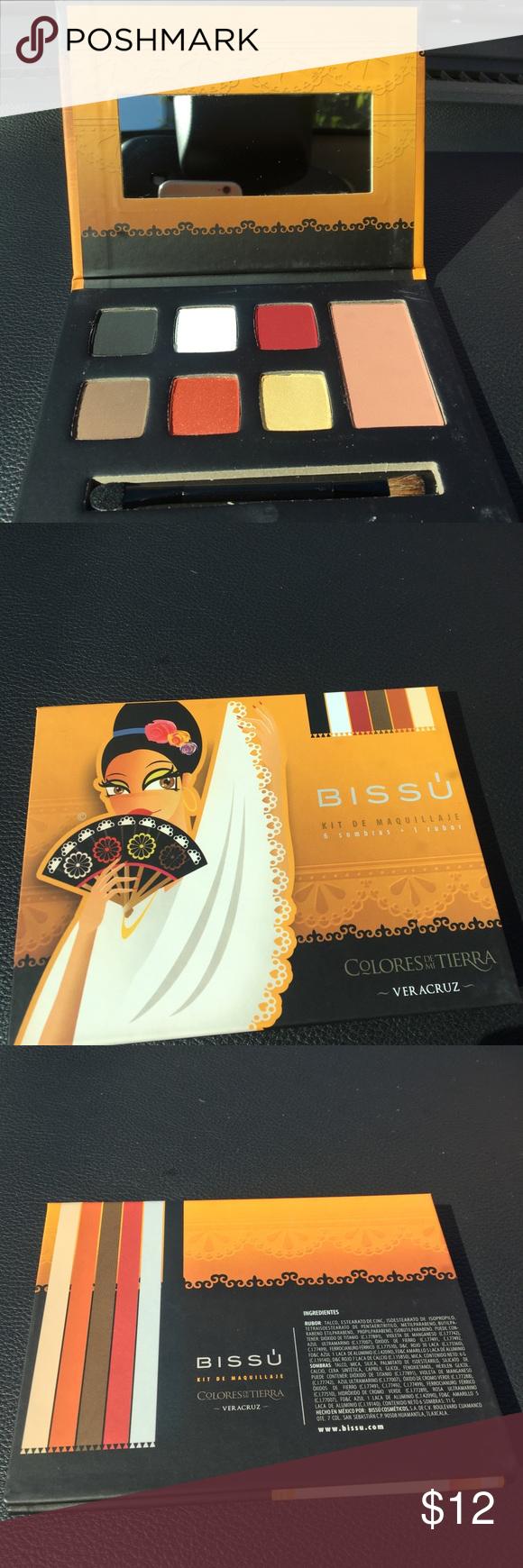 Bissu Kit d Maquillaje 6 Eyeshadow 1 Blush New Bissu