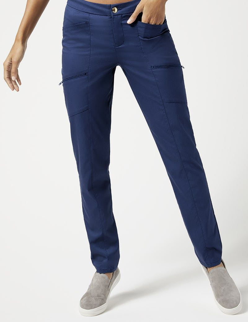 3a698237e Skinny Zip Cargo Pant in Estate Navy Blue - Medical Scrubs | Scrubs ...
