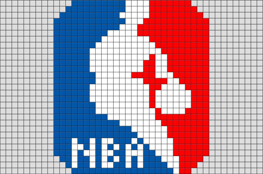 Nba Logo Pixel Art Graph Paper Art Pixel Art Grid Pixel