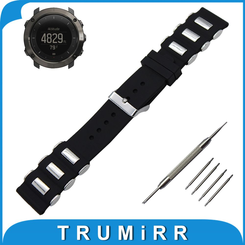 24mm silicone rubber watch band tool for suunto traverse