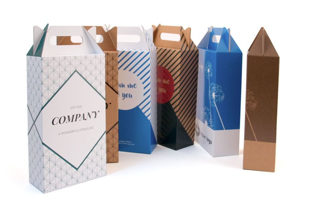 Gift tote x2 750ml high quality cardboard boxes gifts