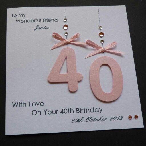 Simple but elegant birthday card idea Ideas for the House 50th